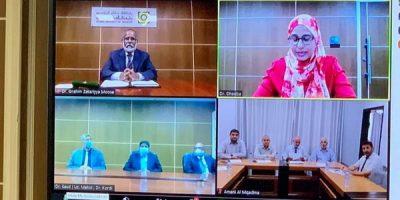 Dhivehi Raajjeyge Islamic University aai Gaza ge Islamic University aai Dhemedhu MOU ehga Soe Kurevijje